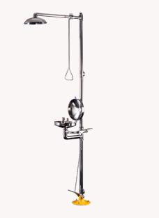 博化复合式联动翻盖洗眼器(304不锈钢翻盖)