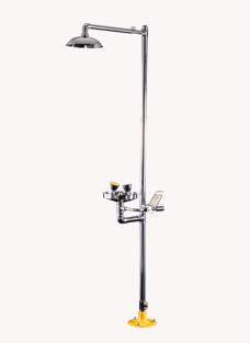 BH30-1012ZP复合式双推手柄冲淋洗眼器(304)