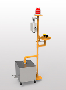 BH32-1011立式ABS声光报警洗眼器